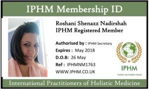 IPHM Badge - Roshani Shenazz Nadirshah