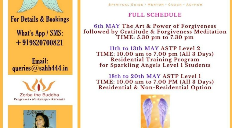Roshani Shenazz in Delhi – May 2018 Schedule
