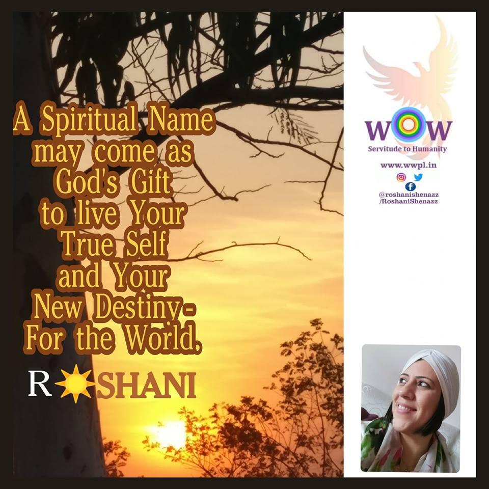 What is a Spiritual Name? – Roshani