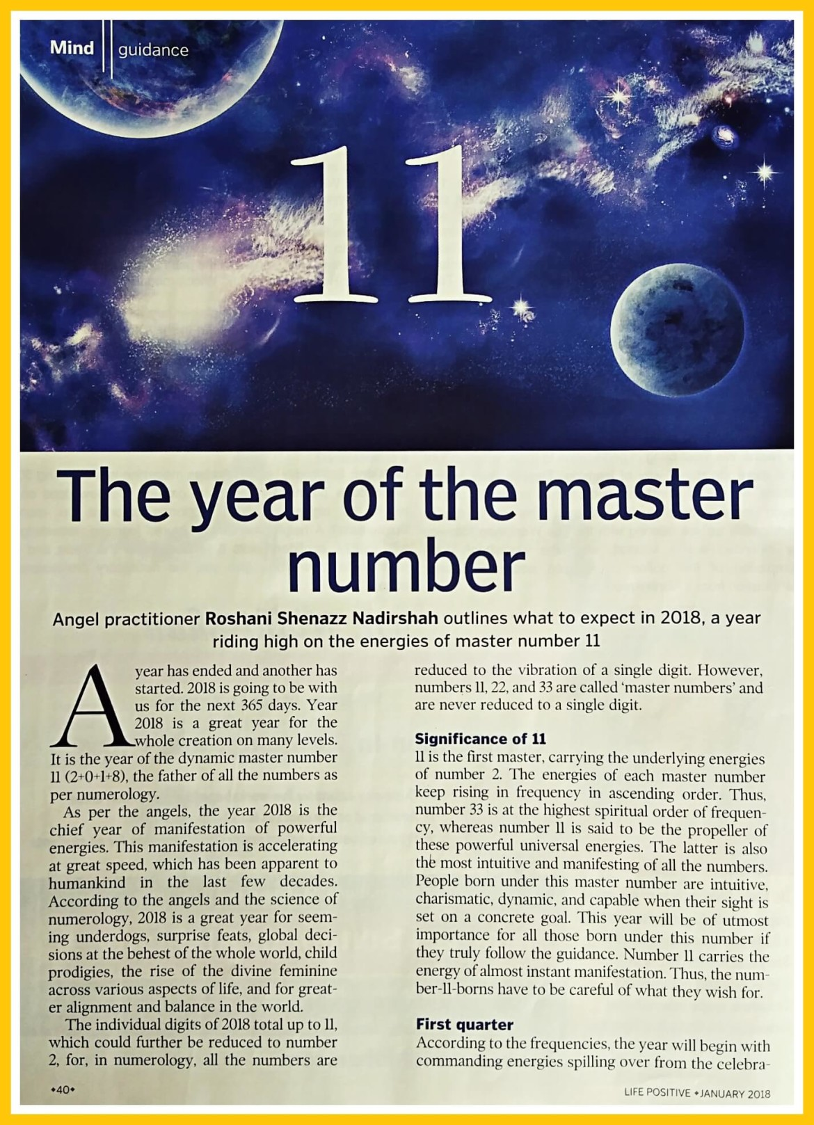 The Year Of Master Number 11 – Sparkling Angels Holistic Healing